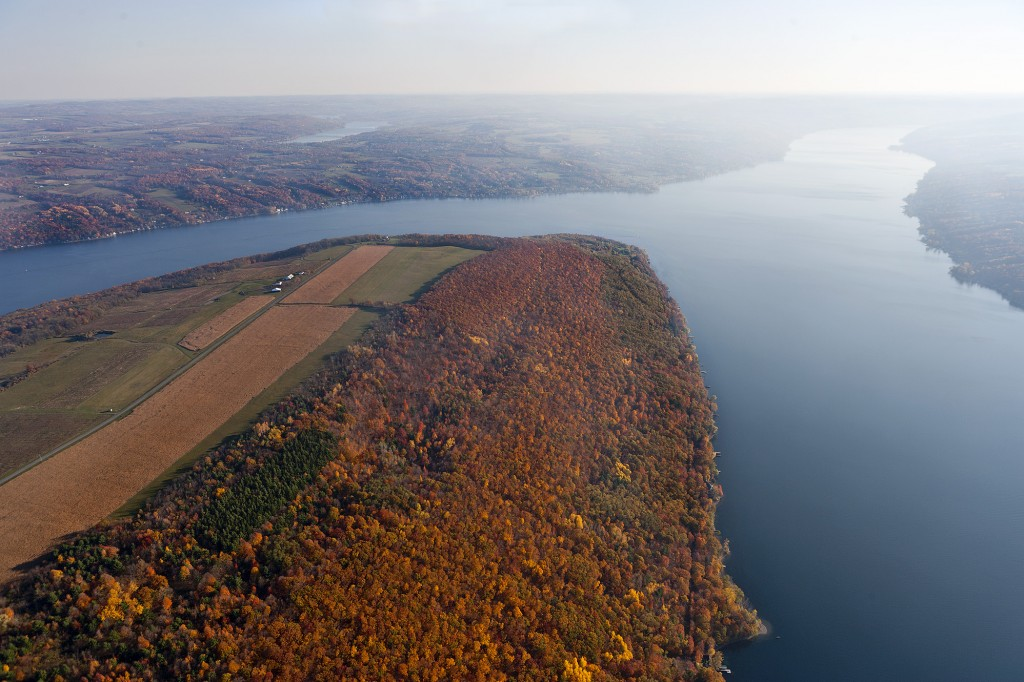 Bluff Point Keuka Lake Finger Lakes fall colors