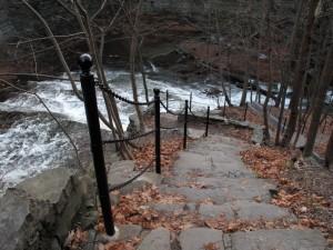Cascadilla Gorge Trail, waterfall, Cornell Plantations, Ithaca, NY