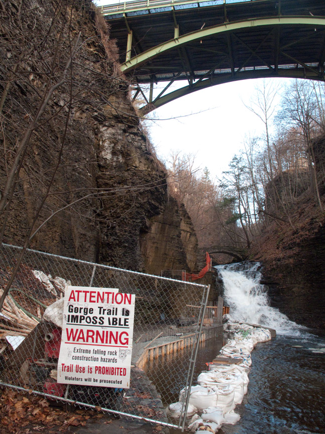 Cascadilla Gorge Trail Cornell Ithaca NY waterfall