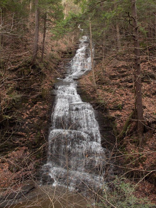 Gorge Trail, waterfall, Fillmore Glen State Park, Cayuga County, NY, Finger Lakes, Dalibarda Falls