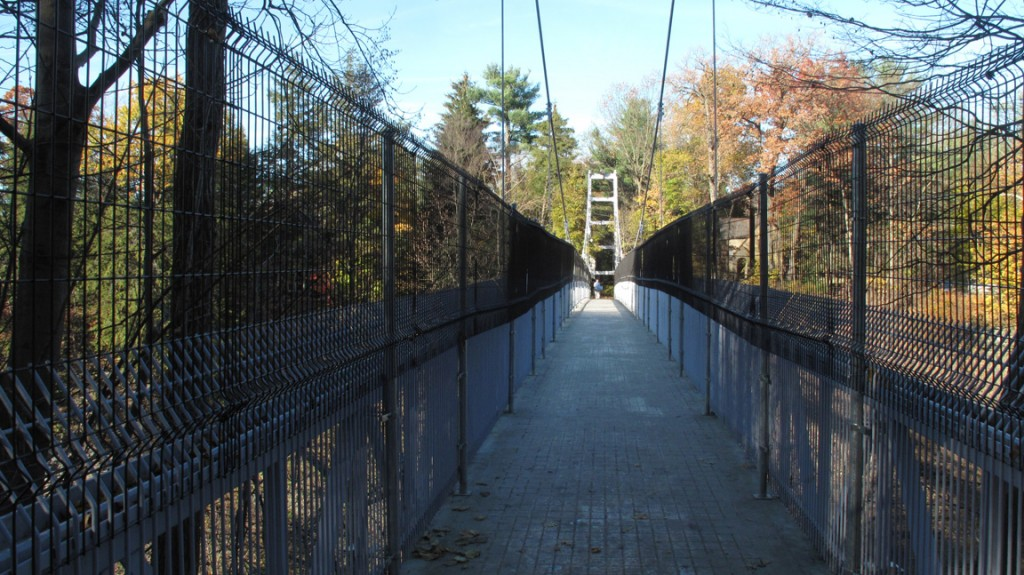 Suspension bridge over Fall Creek Gorge Cornell Campus Ithaca NY