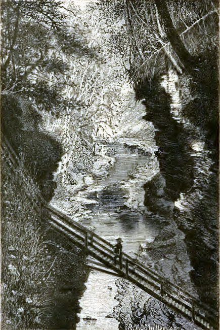 Morvalden Ells guidebook drawing of Watkins Glen