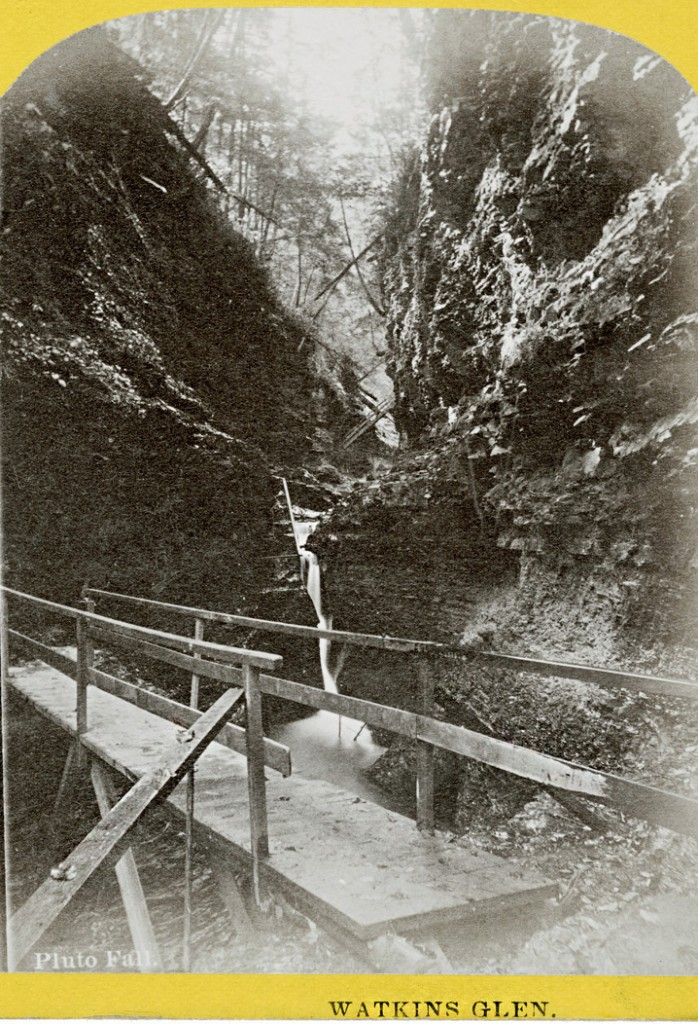 Historic photo of Pluto Falls in Watkins Glen State Park