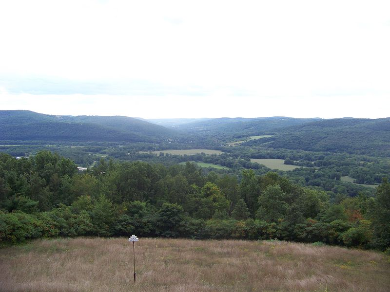 View of the Chemung Valley from Newtown Battlefield State Park near Elmira, NY