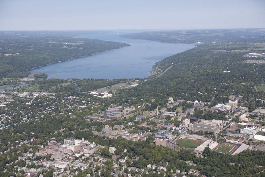 Ithaca, Cayuga Lake, aerial