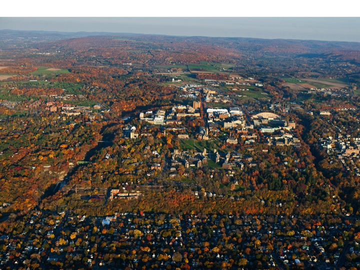 Cornell University Fall Creek Gorge Cascadilla Ithaca NY Fall Colors aerial photograph