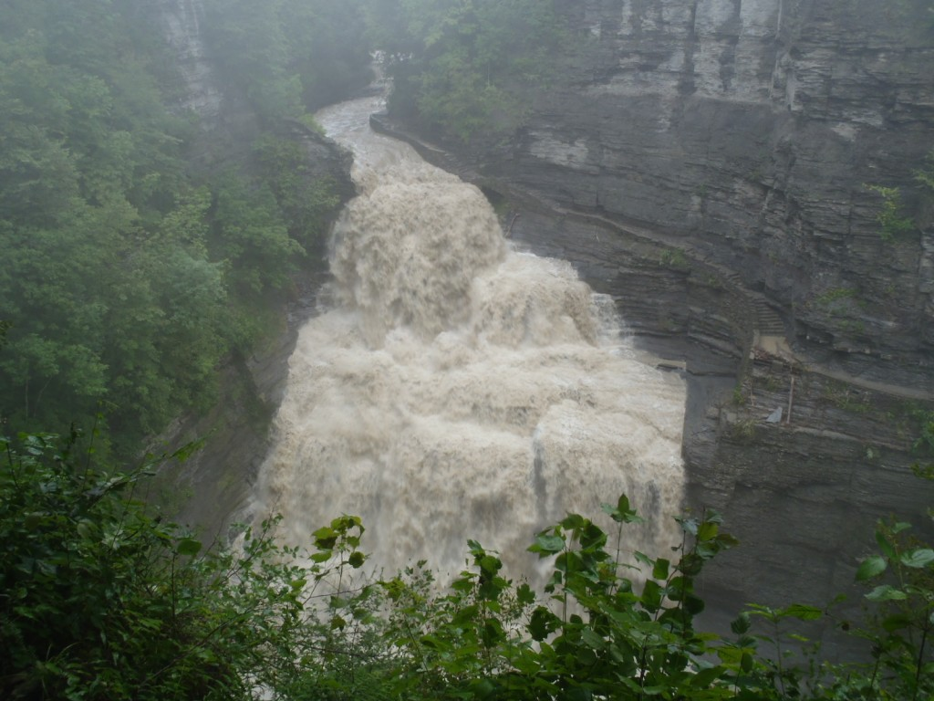 Lucifer Falls flood in Robert H. Treman State Park, Ithaca, NY