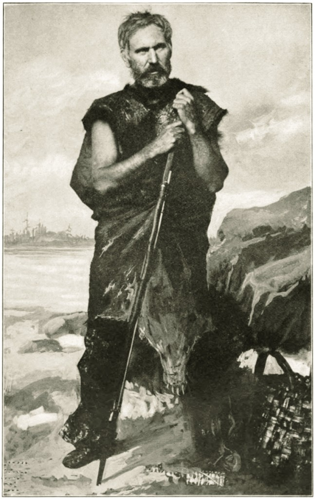 Joseph Knowles, depicted in his adventure in the Maine woods