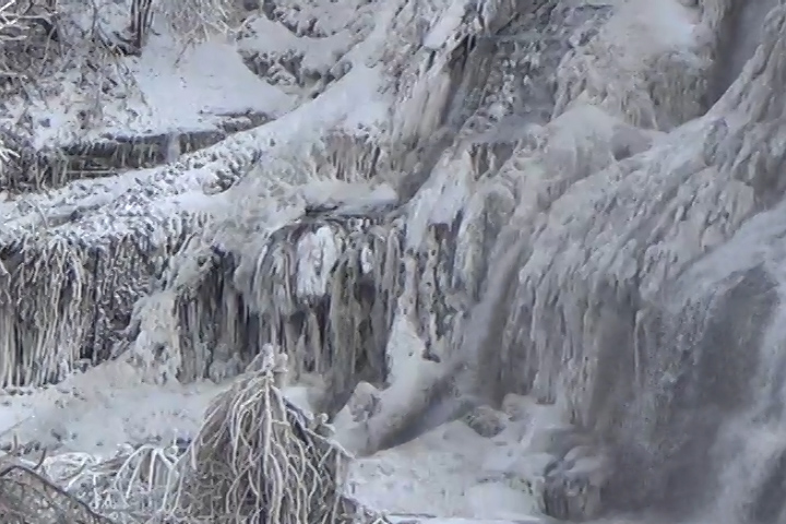 The recent deep freeze weather created beautiful ice formations on Ithaca Falls.