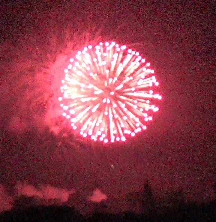 Ithaca 2014 fireworks from Cass Park